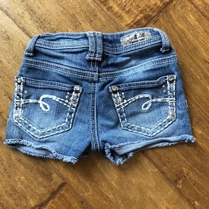 Justice Girls Blue Jean Denim Shorts Size 6 Slim